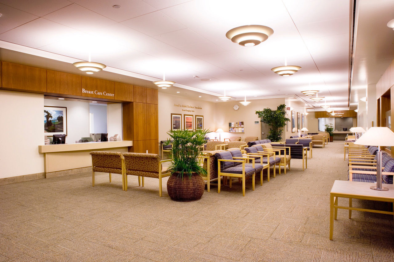 Hoag nationally recognized for breast centers waiting room