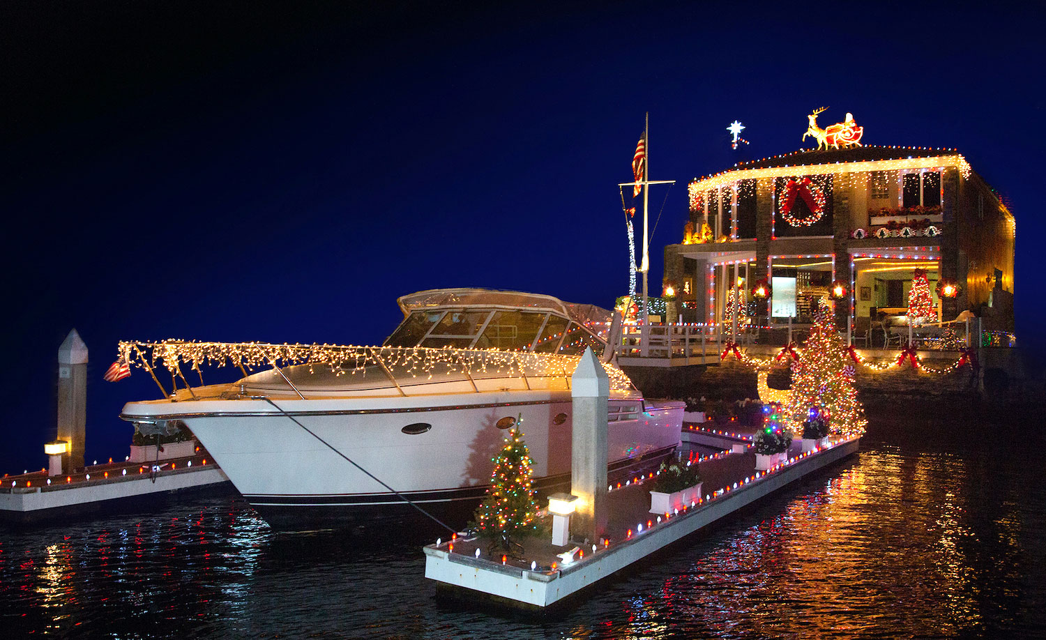 Take Five decorated boat and house
