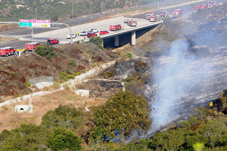 Brush Fire at the 73 Freeway