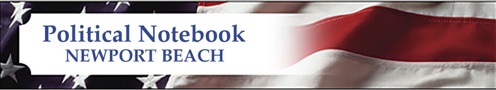 Political Notebook Newport Beach Banner