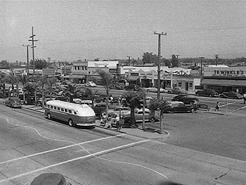 Downtown Costa Mesa in 1954