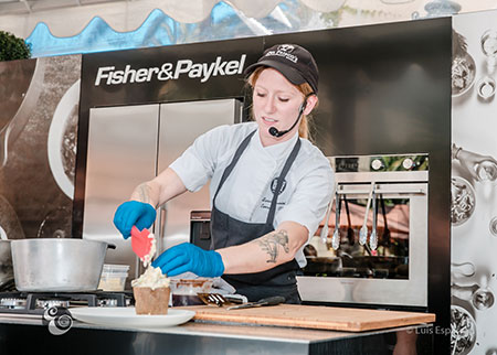 Chef at Fisher Paykel demo 1