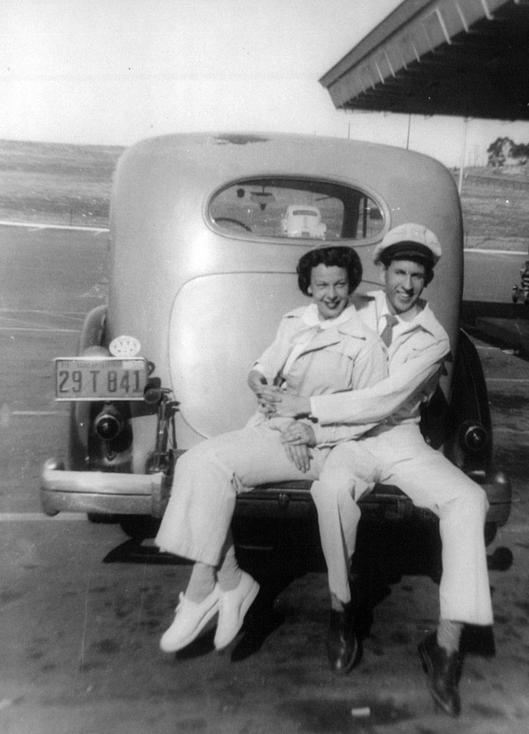 Mom and Dad at Merles Drive In