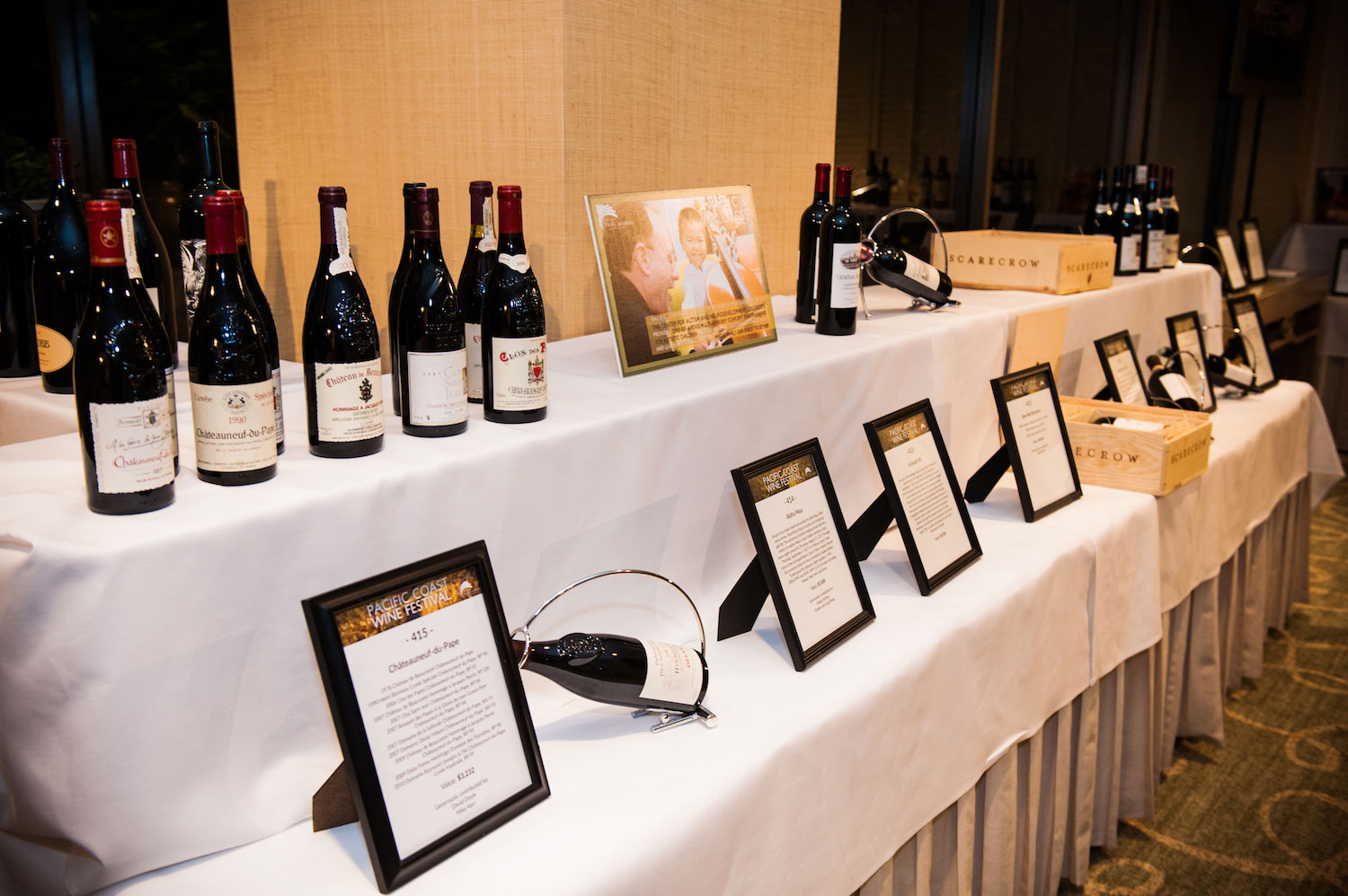 Wines up for bid