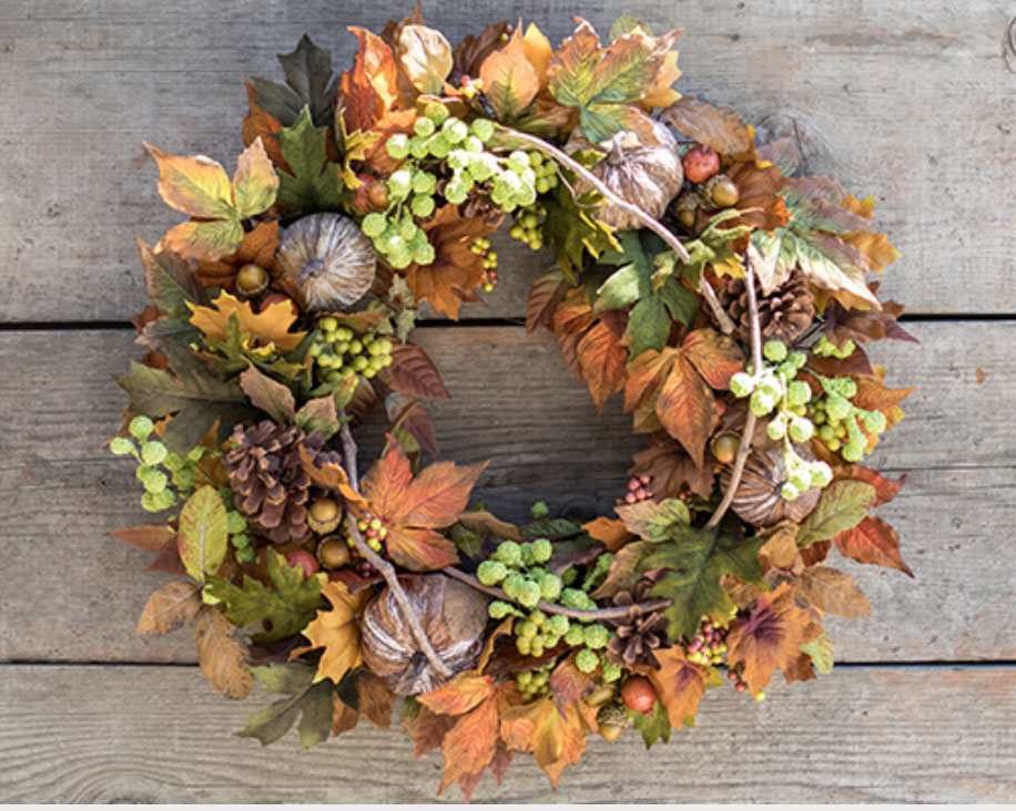 silk harvest wreath